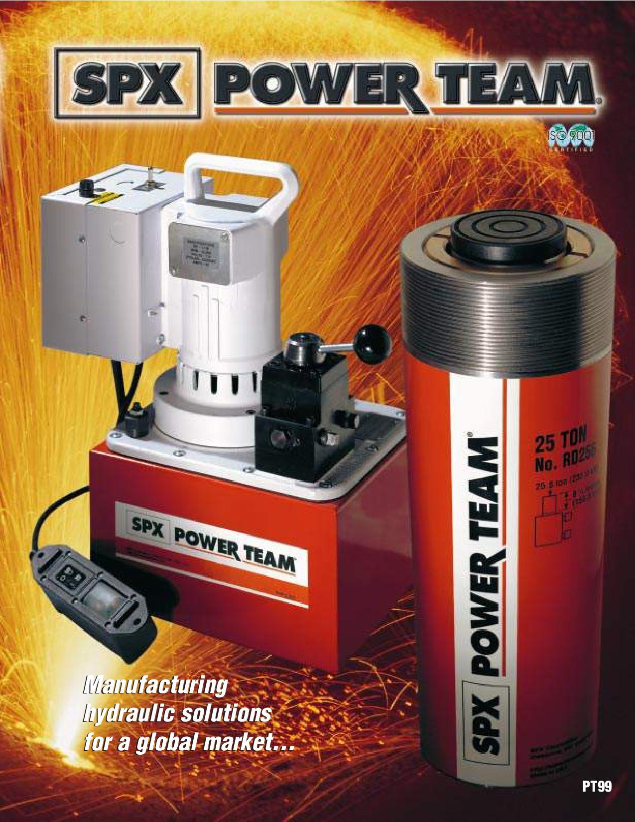 Catalogue SPX POWERTEAM PT99