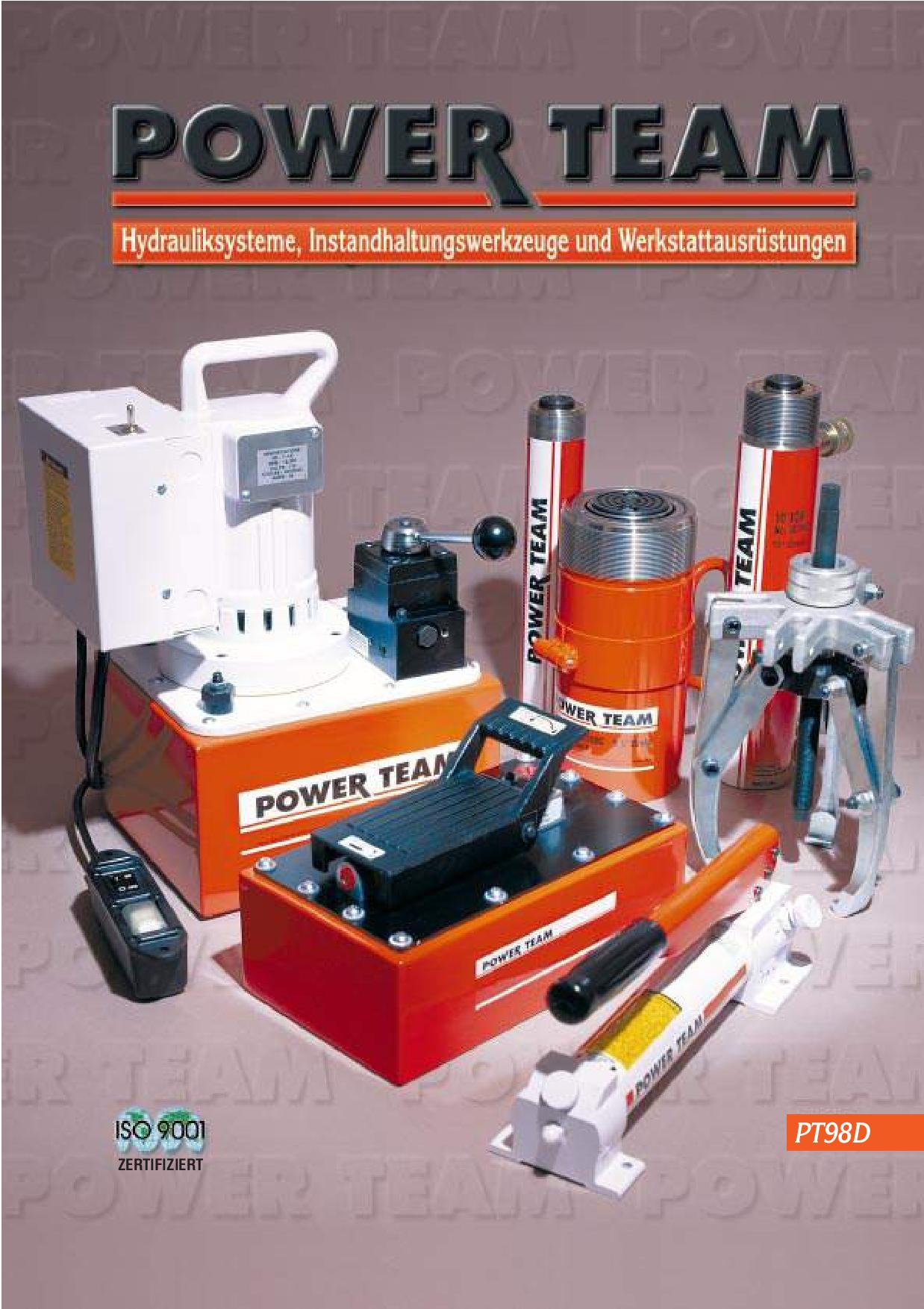 Catalogue SPX POWERTEAM Pt98